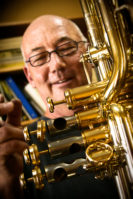 Ron Partch with tuba valves
